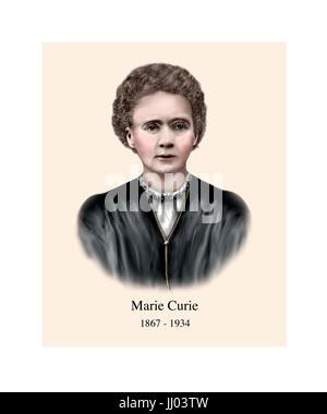 Marie Curie, 1867 - 1934, le polonais né français physicien, chimiste Banque D'Images