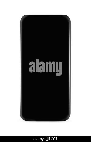 ... écran blanc isolé sur fond blanc  Moins du cadre isolé smartphone  Banque D Images ad51067c9569