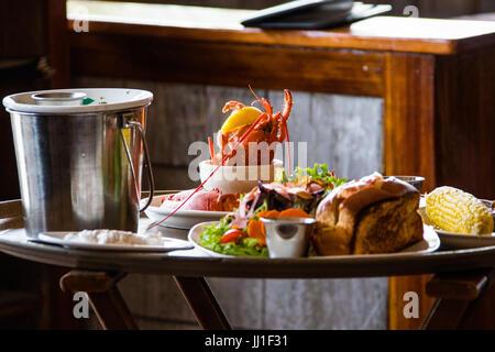 Le casier à homards Nantucket Restaurant, NANTUCKET, Massachusetts, États-Unis Banque D'Images
