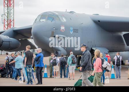 L'US air force un b-52h stratofortress en exposition statique