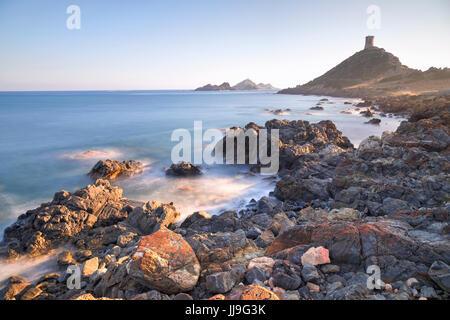 Pointe de la Parata, Sanguinaires, Ajaccio, Corse, France Banque D'Images