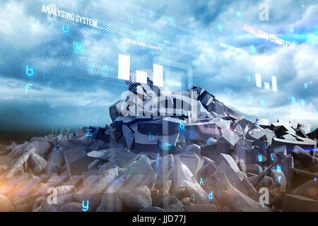 Arrière-plan de virus contre full frame shot of sky Banque D'Images