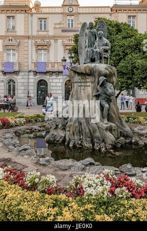 Conseil de ville de style éclectique de principe du xxe siècle, 1905. Monument à Cristobal Murrieta a bénéficié Banque D'Images