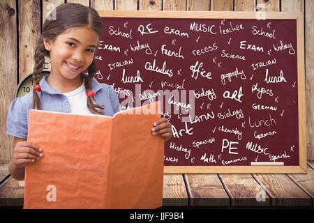 Digital composite d'étudiants contre l'éducation d'artifices avec des graphiques Banque D'Images
