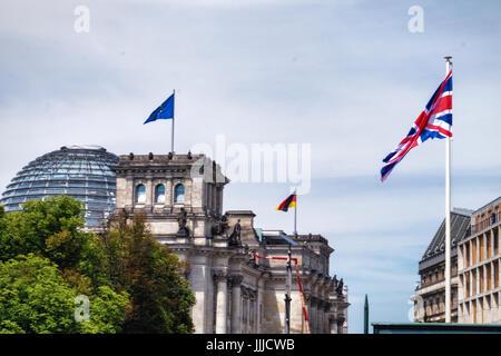 Berlin, Allemagne, le 19 juillet 2017. Le duc et la duchesse de Cambridge, aka Prince et Princesse Kate, a effectué Banque D'Images