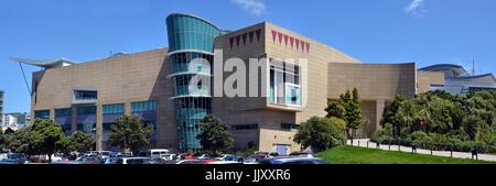 Wellington, Nouvelle-Zélande - 18 novembre 2016: vue panoramique de la Nouvelle-Zélande Te Papa Tongarewa musée Banque D'Images