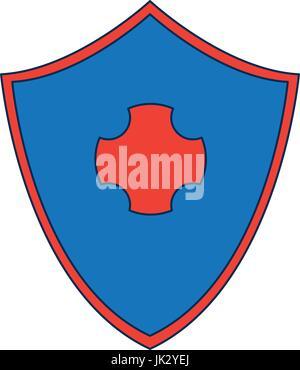 Soins de santé protection protection design symbole Banque D'Images