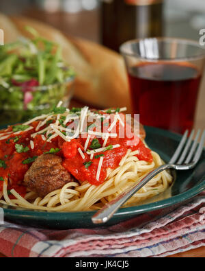 Le dîner spaghetti Banque D'Images