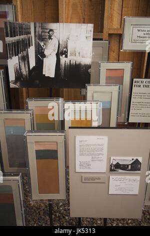USA, Ohio, Tuskeegee Tuskeegee, Lieu historique national de l'Institut, l'Université d'origine afro-américaine majeure fondée par Booker T. Washington, George Washington Carver Museum, de l'intérieur