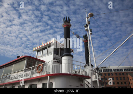 USA, Maryland, Baltimore, Fells Point, du port ferry Banque D'Images