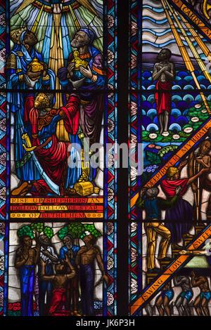 USA, Ohio, Tuskeegee Tuskeegee, Lieu historique national de l'Institut, l'Université d'origine afro-américaine majeure fondée par Booker T., Washington fenêtre chapelle