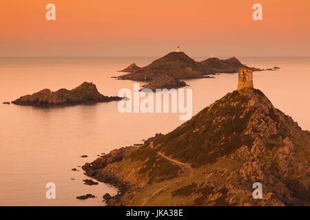 France, Corse, Corse-du-Sud, région de la côte ouest de la Corse, Ajaccio-salon, pointe de la Pirata, vue sur les Banque D'Images