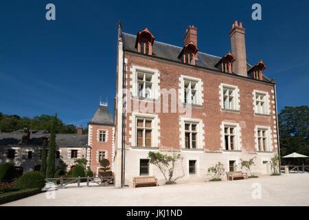Clos Luce, chambre de Léonard de Vinci à Amboise, vallée de la Loire, France Banque D'Images