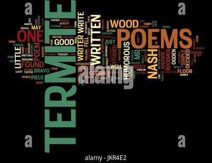 Poèmes de termites fond texte mot Concept Cloud