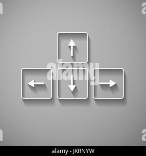 Les boutons flèches vectorielles sur clavier clé d'arrière