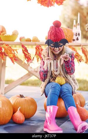 Wrr! Avoir peur, Halloween arrive! Banque D'Images