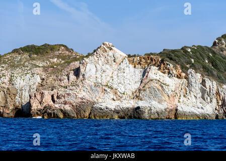 Petite île de Cerboli dans l'archipel toscan, italie Banque D'Images