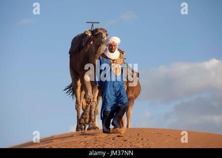 Sahara occidental, le Maroc dessert Banque D'Images