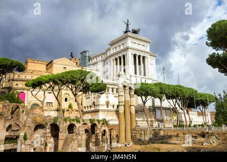 Ruines du Forum Romain, à Rome. Italie Banque D'Images