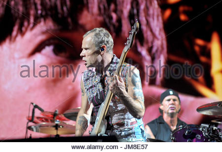 Red Hot Chili Peppers en concert, Milan 2017 Banque D'Images
