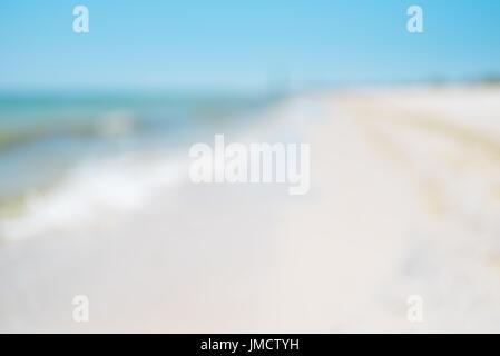Seascape avec effet flou, été abstract background Banque D'Images