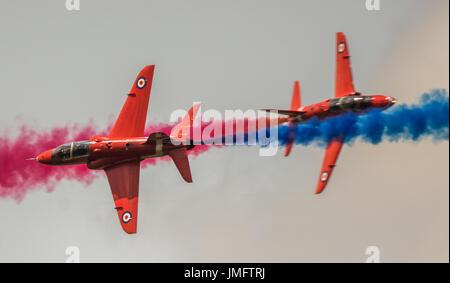 L'équipe de démonstration de la flèches rouge RAF Banque D'Images