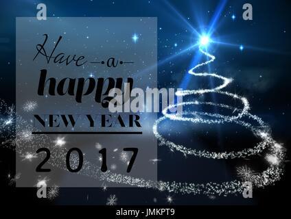 Bonne et heureuse année 2017 vœux sur fond générés numériquement Banque D'Images