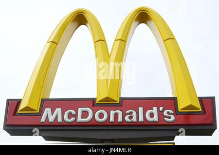 Signe de McDonald Banque D'Images