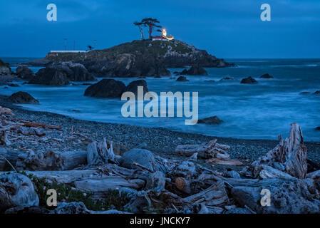 Phare de Battery Point, Crescent City, Californie. Banque D'Images