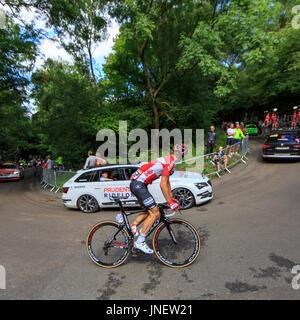 Dorking, Surrey, UK. 30 juillet, 2017. RideLondon-Surrey Classic. Les plus grands cyclistes professionnels ont pris Banque D'Images