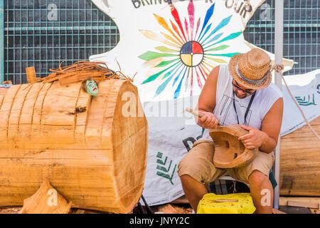 Vancouver, Canada. Juil 30, 2017. le tambour appelle Festival, Canada 150 cas, Larwill Park, Vancouver, Colombie Banque D'Images