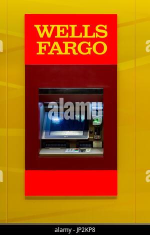 La Wells Fargo Bank ATM Banque D'Images