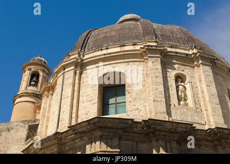 Sassari Sardaigne église, le dôme Baroque de l'église Santa Maria di Betlem à Sassari, Sardaigne.