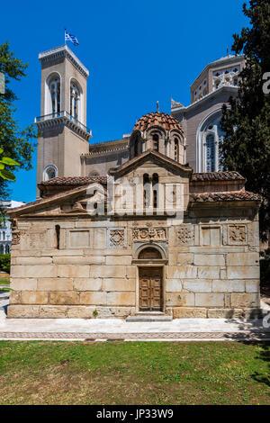 Église Agios Eleftherios ou peu de métropole, Athènes, Attique, Grèce