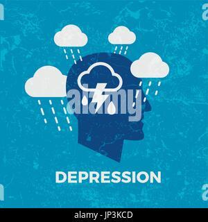 La dépression. Concept vector illustration Banque D'Images