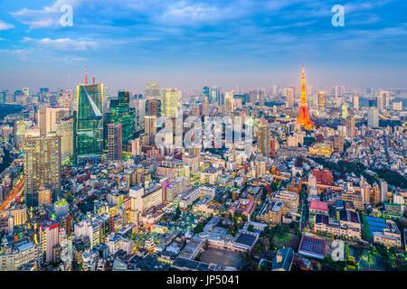 Tokyo, Japon d'horizon. Banque D'Images
