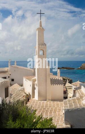 L'Espagne, Îles Baléares, l'île de Minorque, vieux village de pêcheurs de Binibeca Banque D'Images