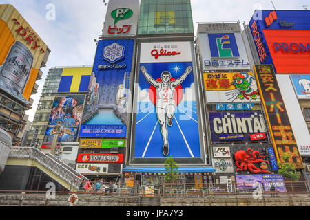 Le Japon, la Ville d'Osaka Dotombori, salon, Banque D'Images