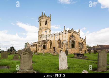 L'église Saint Pierre, Barnburgh, Doncaster, South Yorkshire, Angleterre, Royaume-Uni