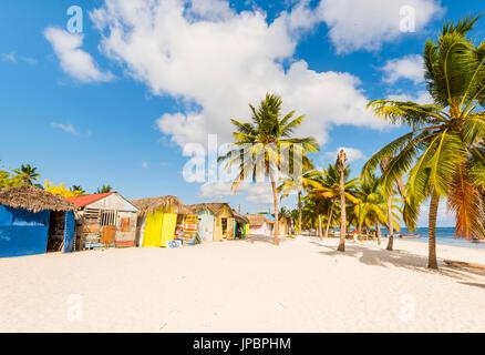 Juan Mano, l'île de Saona, à l'Est Parc National (Parque Nacional del Este), la République dominicaine, la mer des Caraïbes.
