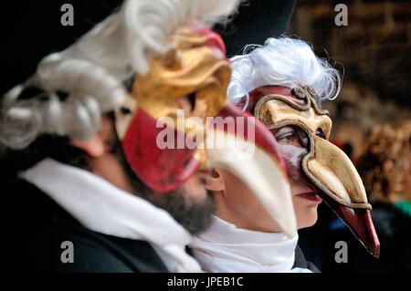Masque de carnaval de Venise dispose, dans un jeu de l'accent. Italie