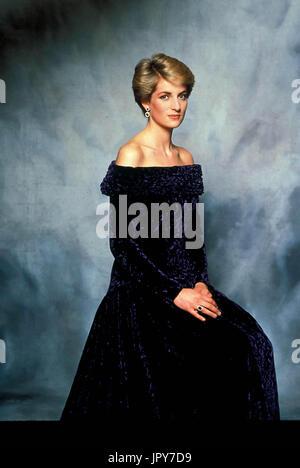 31 août 2017 marque 20 ans depuis la mort de la princesse Diana. La princesse Diana meurt de blessures graves dans les premières heures du 31 août 1997 après un accident de voiture à Paris. Photo: c. 1980 Portrait de la princesse Diana. Globe Crédit: Photos/ZUMAPRESS.com/Alamy Live News