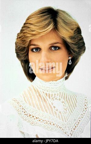 31 août 2017 marque 20 ans depuis la mort de la princesse Diana. La princesse Diana meurt de blessures graves dans les premières heures du 31 août 1997 après un accident de voiture à Paris. Sur la photo: la princesse Diana de 1982. Globe Crédit: Photos/ZUMAPRESS.com/Alamy Live News