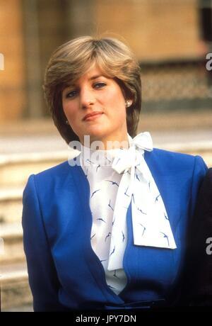 31 août 2017 marque 20 ans depuis la mort de la princesse Diana. La princesse Diana meurt de blessures graves dans les premières heures du 31 août 1997 après un accident de voiture à Paris. Photo: Août 1981 - La Princesse Diana (Lady Diana. Globe Crédit: Photos/ZUMAPRESS.com/Alamy Live News
