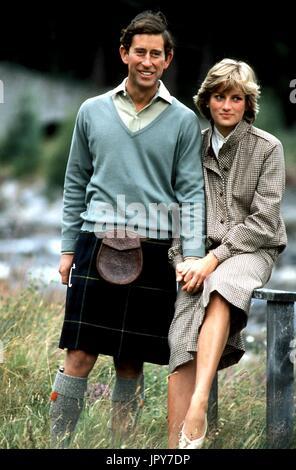 31 août 2017 marque 20 ans depuis la mort de la princesse Diana. La princesse Diana meurt de blessures graves dans les premières heures du 31 août 1997 après un accident de voiture à Paris. Photo: 1992 - Le Prince Charles et la princesse Diana. Globe Crédit: Photos/ZUMAPRESS.com/Alamy Live News