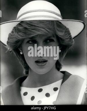 31 août 2017 marque 20 ans depuis la mort de la princesse Diana. La princesse Diana meurt de blessures graves dans les premières heures du 31 août 1997 après un accident de voiture à Paris. Photo: 1982 - Crédit: Keystone La Princesse Diana Photos USA/ZUMAPRESS.com/Alamy Live News