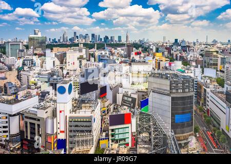 Shibuya, Tokyo, Japon paysage urbain. Banque D'Images