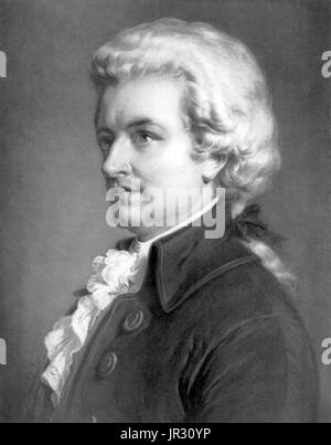 Wolfgang Amadeus Mozart, compositeur autrichien Banque D'Images