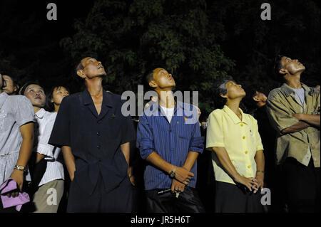 10.08.2012, Pyongyang, Corée du Nord, d'Asie - Corée du Nord de profiter de regarder les nombreuses attractions Banque D'Images