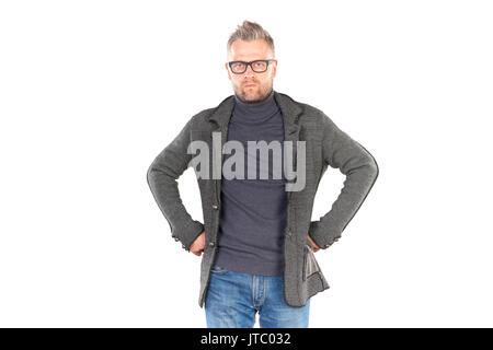 L'Homme à lunettes Banque D'Images